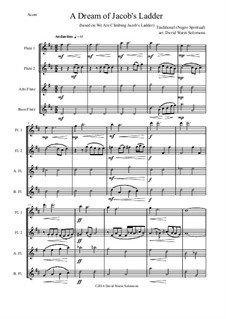 A dream of Jacob's ladder: For flute quartet by folklore