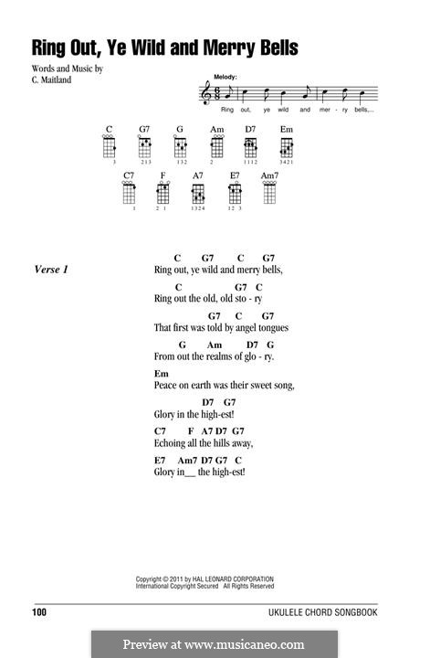Ring Out, Ye Wild and Merry Bells: For ukulele by C. Maitland