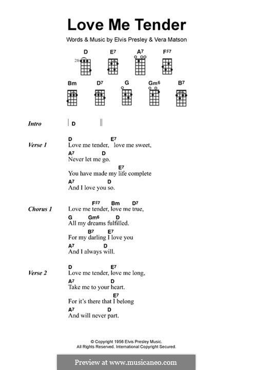 Love Me Tender By V Matson Sheet Music On Musicaneo