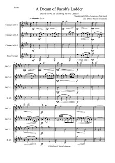 A dream of Jacob's ladder: For clarinet quartet by folklore