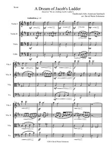A dream of Jacob's ladder: For string quartet by folklore