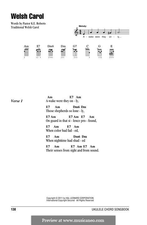 Welsh Carol: For ukulele by folklore