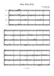 Holy, Holy, Holy! Lord God Almighty: For two violin, guitar and cello by John Bacchus Dykes