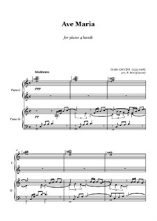 Ave Maria: For piano four hands by Giulio Caccini
