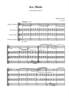 Ave Maria: For saxophone quartet by Giulio Caccini