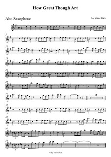 How Great Though Art: For alto saxophone by folklore