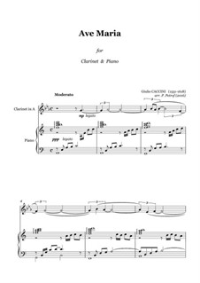 Ave Maria: For clarinet and piano by Giulio Caccini