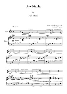 Ave Maria: For flute and piano by Giulio Caccini