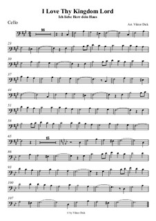 I Love Thy Kingdom, Lord: For cello by folklore
