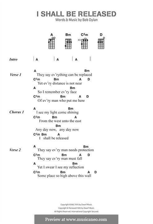 I Shall Be Released by B. Dylan - sheet music on MusicaNeo