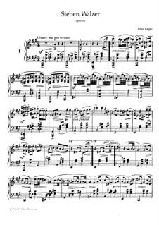 Seven Waltzes for Piano, Op.11: Waltzes No.1-3 by Max Reger