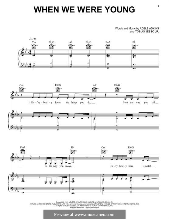 When We Were Young: For voice and piano (or guitar) by Adele, Tobias Jesso