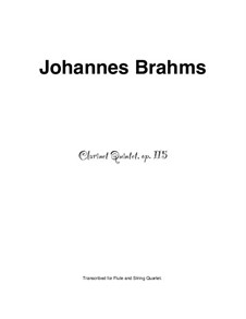 Quintet for Clarinet and Strings in B Minor, Op.115: Solo part by Johannes Brahms