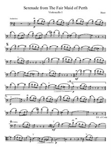 Serenade: For four cellos by Georges Bizet