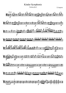 Kinder Sinfonie 1 mov. for 3 cellos (without toy part): Kinder Sinfonie 1 mov. for 3 cellos (without toy part) by Edmund Angerer