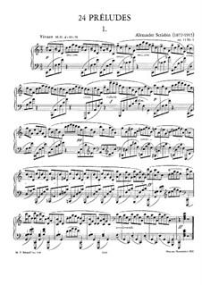 Twenty-Four Preludes, Op.11: Complete set by Alexander Scriabin