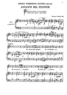 Otto, King of Germany, HWV 15: Affanni del pensier by Georg Friedrich Händel