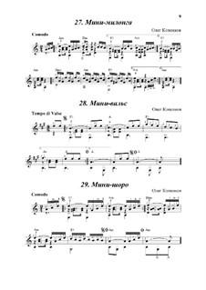 3 мини-миниатюры (Мини-милонга, Мини-вальс, Мини-шоро): 3 мини-миниатюры (Мини-милонга, Мини-вальс, Мини-шоро) by Oleg Kopenkov