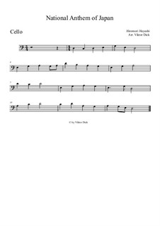 Kimigayo (Japanese National Anthem): For cello by Hiromori Hayashi