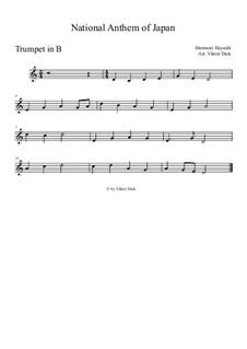Kimigayo (Japanese National Anthem): For trumpet in B by Hiromori Hayashi