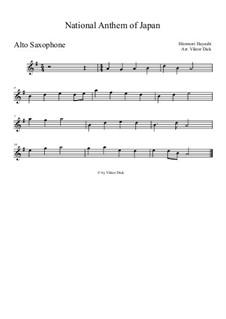 Kimigayo (Japanese National Anthem): For alto saxophone by Hiromori Hayashi