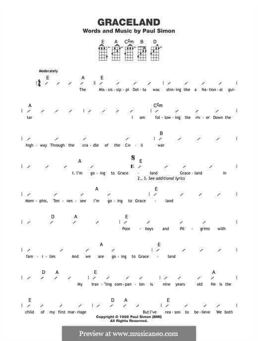 Graceland: For ukulele by Paul Simon