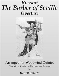 Il Barbiere di Siviglia (The Barber of Seville): Overture, for woodwind quintet (in F) by Gioacchino Rossini