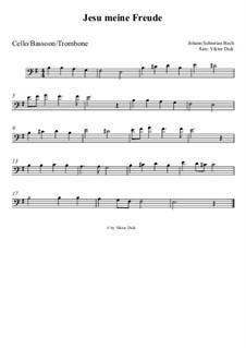Jesu, meine Freude, BWV 227: Für Cello by Johann Sebastian Bach