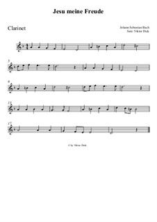 Jesu, meine Freude, BWV 227: Für Klarinette by Johann Sebastian Bach