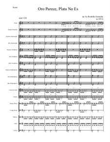Oro Pareca, Plata No Es for Elementary Mariachi Orff Ensemble: Oro Pareca, Plata No Es for Elementary Mariachi Orff Ensemble by folklore