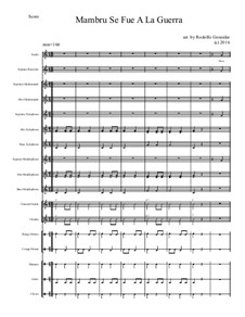 Mambru Se Fue A La Guerra for Elementary Mariachi Orff Ensemble: Mambru Se Fue A La Guerra for Elementary Mariachi Orff Ensemble by folklore