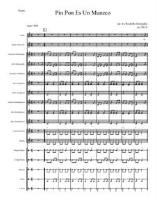 Pin Pon Es Un Muñeco for Elementary Mariachi Orff Ensemble: Pin Pon Es Un Muñeco for Elementary Mariachi Orff Ensemble by folklore