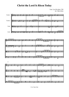 Christ the Lord Is Risen Today: For string quartet by folklore