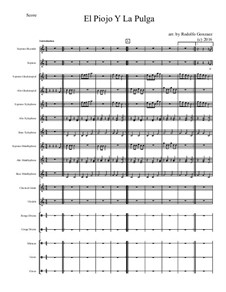 El Piojo Y La Pulga: For elementary mariachi orff ensemble by folklore
