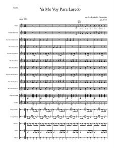 Ya Me Voy Para Laredo for Elementary Mariachi Orff Ensemble: Ya Me Voy Para Laredo for Elementary Mariachi Orff Ensemble by folklore