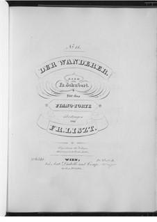 The Wanderer, D.493 Op.4 No.1: Arrangement for piano by Franz Schubert