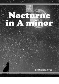 Nocturne in A Minor (Beginner Piano Solo): Nocturne in A Minor (Beginner Piano Solo) by MEA Music