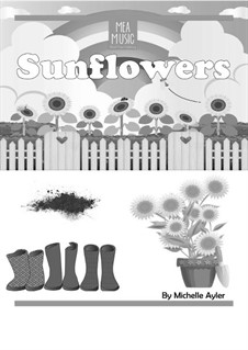 Sunflowers (Beginner Piano Solo): Sunflowers (Beginner Piano Solo) by MEA Music