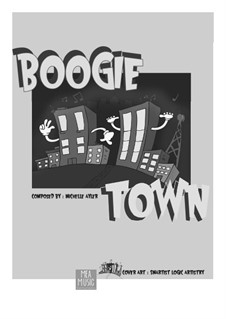 Boogie Town (Beginner Piano Solo): Boogie Town (Beginner Piano Solo) by MEA Music