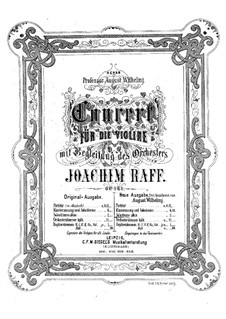 Concerto for Violin and Orchestra No.1, Op.161: Version for violin and piano – solo part by Joseph Joachim Raff