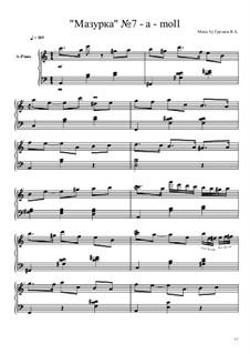 Мазурка No.7: Мазурка No.7 by Viktor Gryaznov