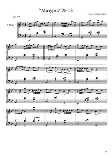 Мазурка No.13: Мазурка No.13 by Viktor Gryaznov