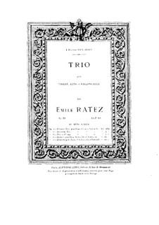 String Trio, Op.34: Violin part by Emile Pierre Ratez