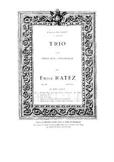 String Trio, Op.34: Viola part by Emile Pierre Ratez