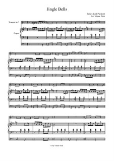 Jingle Bells: For trumpet in C and organ by James Lord Pierpont