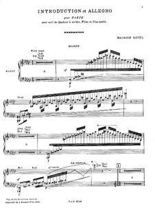 Introduction and Allegro, M.46: Parts by Maurice Ravel