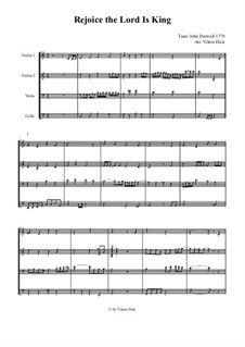 Rejoice the Lord Is King: For string quartet by John Darwall