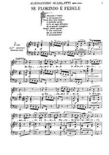 Se Florindo e fedele: For voice and piano by Alessandro Scarlatti