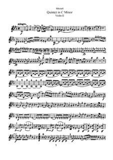 String Quintet No.2 in C Minor, K.406/516b: Violin II part by Wolfgang Amadeus Mozart