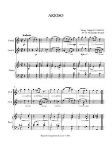 Arioso in D Minor: For two flutes and piano by Georg Philipp Telemann